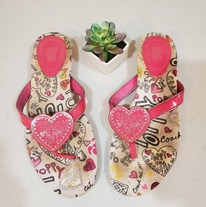Authentic Coach Poppy Sophie Flip Flops 7.5